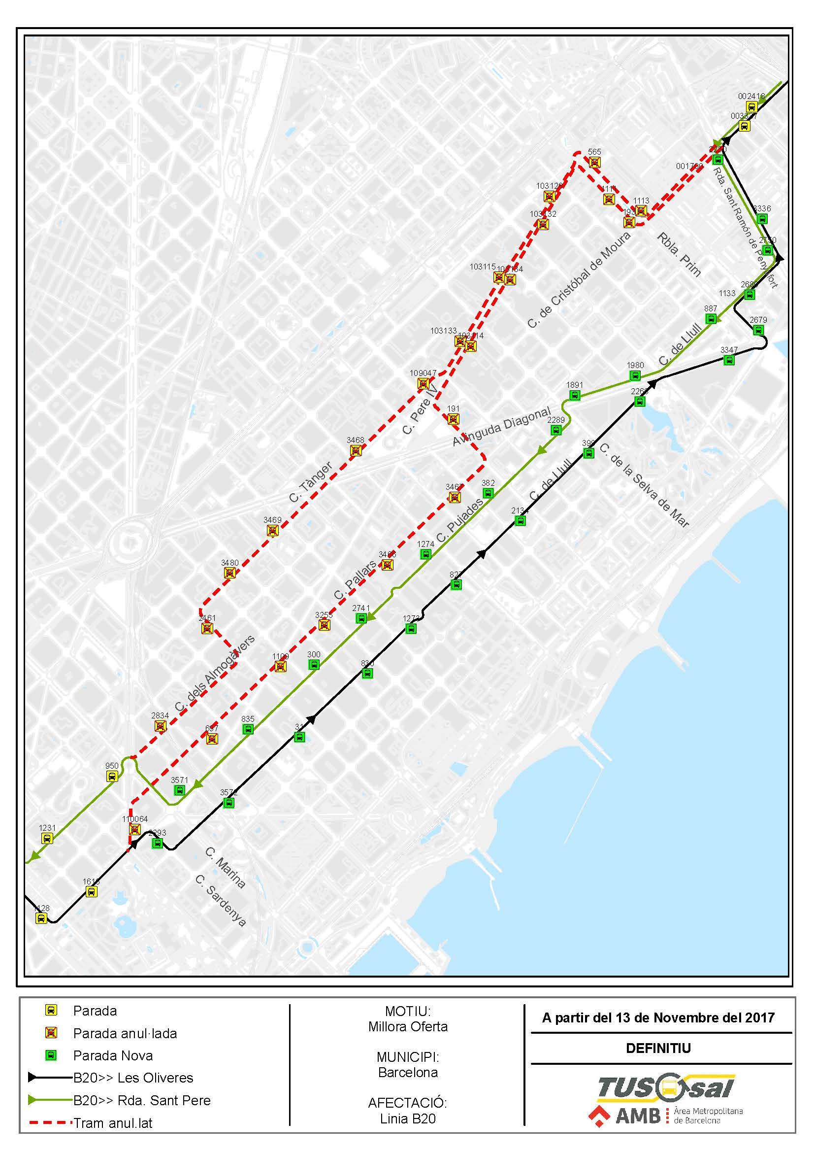 Desde el 13 de noviembre mejoras en las l neas b20 b23 y b25 for Planos en linea